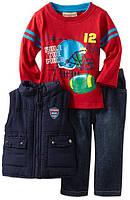 """Костюм для мальчика (джинсы, футболка, жилетка) """"Kids Headquarters"""".Размеры: XS, S, M,, фото 1"""