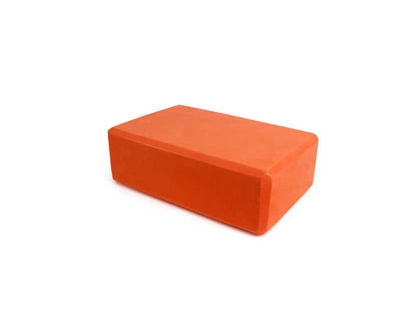 Блок для йоги, опорний блок для фітнесу помаранчевий