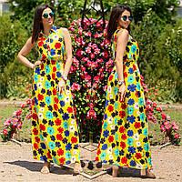 """Довга сукня сарафан натуральна тканина """"Пелагея"""""""