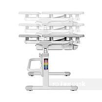 Комплект растущая парта для дома FunDesk Lavoro L Grey+детское кресло FunDesk LST3 Blue-Grey, фото 2