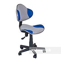 Комплект растущая парта для дома FunDesk Lavoro L Grey+детское кресло FunDesk LST3 Blue-Grey, фото 3