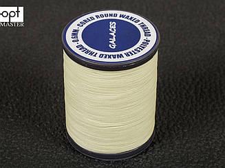 Galaces 0.60 мм молочная (S002) нить круглая плетеная из 8 нитей вощёная по коже