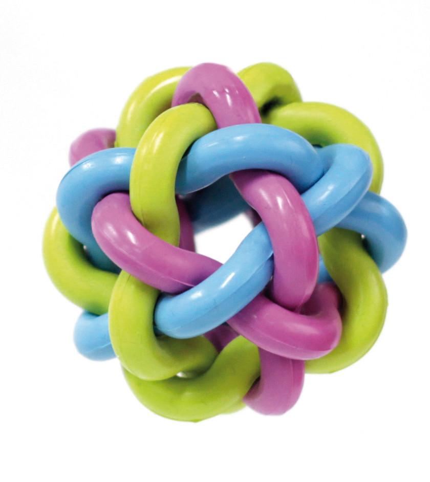 Игрушка для собак CROCI. Литой мяч крученый, резина 7,5 см