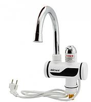 Электрический проточный кран водонагреватель Delimano (делимано) с цифровим экраном.