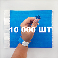 Контрольные бумажные браслеты на руку неоновые с логотипом для клуба Tyvek 3/4 - 10 000 шт