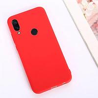 Матовый силиконовый чехол на Xiaomi Redmi Note 7 ( красный )