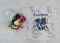 """Футболка жіноча рванка """"Fashion"""" розмір норма 46-50, білого кольору"""