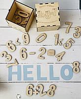 В наличии!Развивающий Набор для изучения цифр и счёта деревянный в коробочке