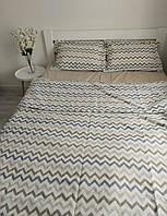 Комплект постельного белья из ранфорса- 100% хлопок (размер Евро стандарт - молочного цвета)
