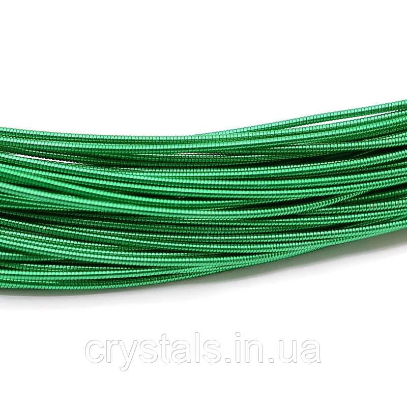 Канитель жесткая 1 мм, зеленая