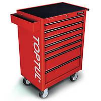 Тележка для инструментов на колесах TOPTUL 7 секций (красная) TCAA0702