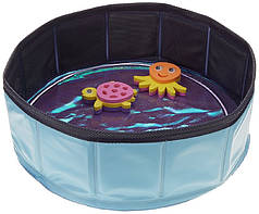 Бассейн для кота CROCI PISCINA, +2 игрушки, надувной, винил, 30х10 см