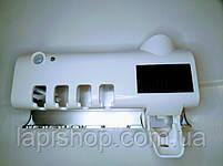 Держатель стерилизатор с дозатором для зубных щёток автоматический Toothbrush, фото 6