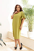 Модное женское платье батал 48 - 58 рр ткань киви