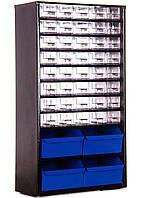 Органайзер К40+4, кассетница, сортовик, ящик, осередок для дрібниць, радіодеталей, металовиробів, бісеру, фото 1