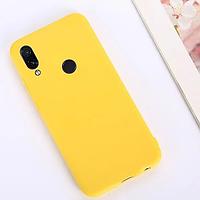 Матовый силиконовый чехол на Xiaomi Redmi Note 7 ( желтый )