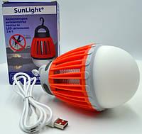 Фонарь от насекомых SUNLIGHT, 6500K USB, ABS+PC/ Usb Led лампа/ фонарь/