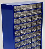Органайзер К60 синий, кассетница, сортовик, ящик, ячейка для мелочей, деталей, метизов, бисера, фото 1