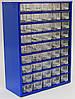 Органайзер К45 синий, кассетница, сортовик, ящик, ячейка для мелочей, деталей, метизов, бисера
