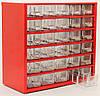 Органайзер К30 красный, кассетница, сортовик, ящик, ячейка для мелочей, деталей, метизов, бисера