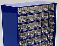 Органайзер К30 синій, кассетница, сортовик, ящик, осередок для дрібниць, деталей, металовиробів, бісеру, фото 1