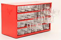 Органайзер К20 красный, кассетница, сортовик, ящик, ячейка для мелочей, деталей, метизов, бисера, фото 1