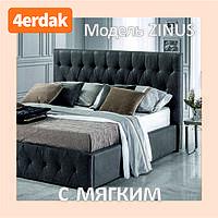 Кровать Двуспальная STONE 1600 на 2000 с мягким изголовьем. Ортопедическая