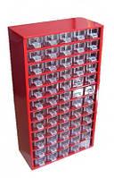 Органайзер - кассетница - сортовик К60 з висувними скриньками Для радіодеталей, дрібниць, металовиробів, бісеру, фото 1