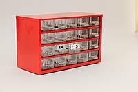 Органайзер - кассетница - сортовик К20 ячейки.Для хранения радиодеталей, метизов, бисера, крючков, пуговиц, фото 1