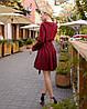 Красное платье мини короткое женское универсальное однотонное, фото 6