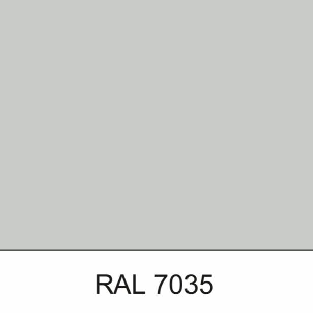 Гладкий лист • RAL 7035 • 0,7 мм • PE • MittalSteel •