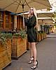 Изумрудное платье мини короткое женское универсальное однотонное, фото 4
