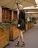 Изумрудное платье мини короткое женское универсальное однотонное, фото 5