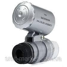 Кишеньковий мікроскоп 60X Сірий, фото 2