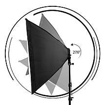 Софтбокс 60 x 90 див. Постійний студійне світло E27 на 4 лампи + стійка, фото 3