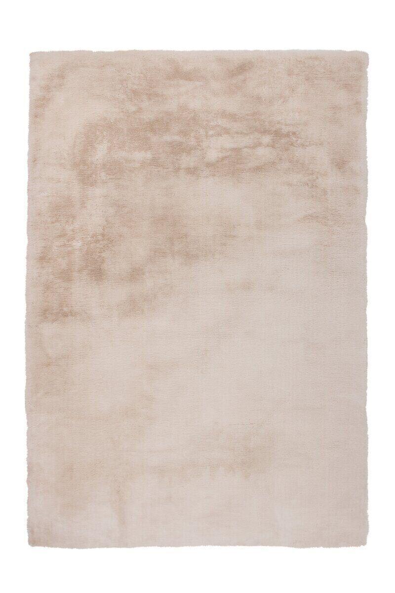 Однотонный очень мягкий ковёр ручной работы, имитирующий мех кролика Rabbit, бежевый