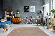 Однотонный очень мягкий ковёр ручной работы, имитирующий мех кролика Rabbit, бежевый, фото 2