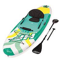 Доска для SUP серфинга BESTWAY SUP-БОРД 65310 Желто-зеленая (340-89-15 см) | Надувная доска для серфинга