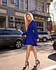 Синие платье женское мини короткое женское универсальное однотонное, фото 5