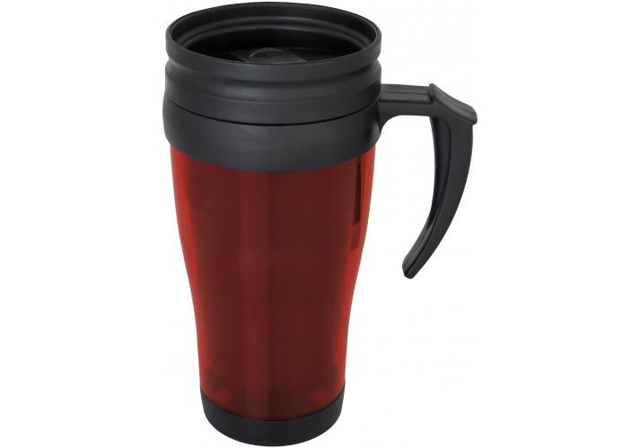 Термокружка пластикова LITE Optima Promo 400 мл, червона