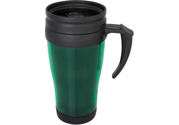 Термокружка пластикова LITE Optima Promo 400 мл, зелена
