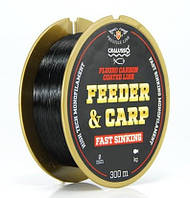 Леска Cralusso Feeder&Carp Fast Sinking Fluorocarbon Coated Black 300 м 0.20мм 3.4кг QSP (2096)