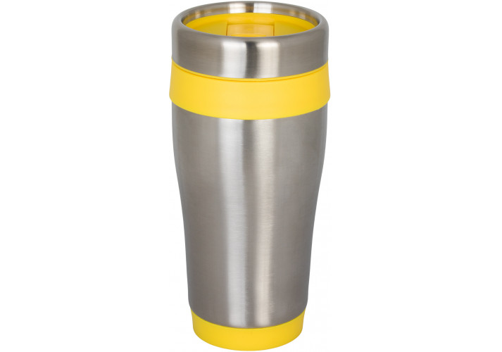 Термокружка металева COMFORT Optima Promo 450 мл, жовта