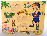 Деревянная игрушка (Мальчик в кепке) MD 1305