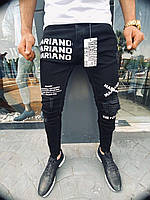 Мужские джинсы Mariano 1026 black, фото 1
