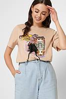 Женская белая футболка с принтом, фото 1