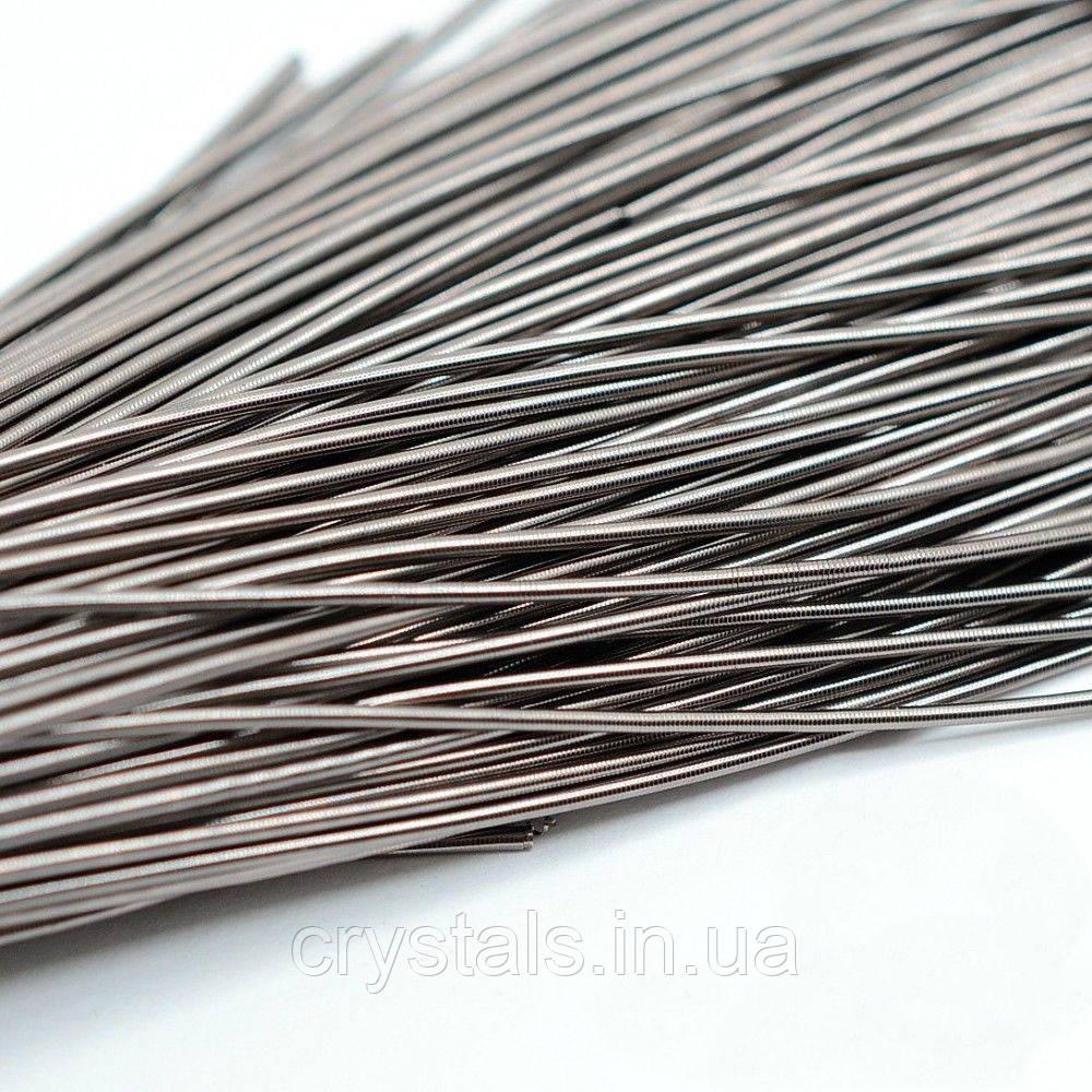 Канитель гладкая мягкая 1 мм, античное серебро