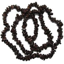 Бусины Сколы Камня Крупные Темно Коричневые, Размер 6-12*4-8 мм, Около 85 см нить, Рукоделие, Фурнитура