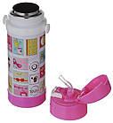 Дитячий термос с трубочкою A-PLUS 320 мл рожевий, фото 3