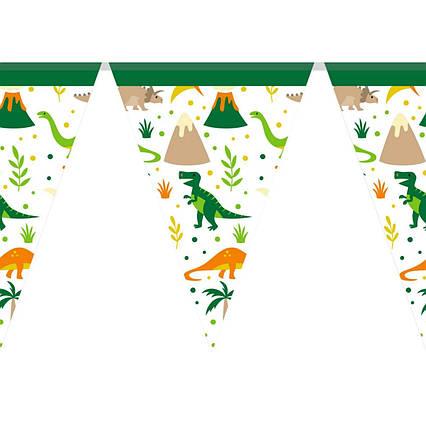 Гирлянда из флажков вымпелов Динозавры
